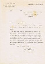 Rudolph Hess Typed Letter Signed - Adolf Hitler